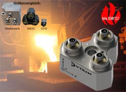 disynet – einzigartige und bislang weltweit kleinste triaxiale Miniaturlösung für Hochtemperatur-Beschleunigungsmessungen über 500°C!