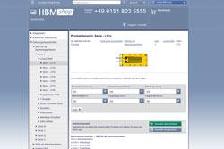 HBMshop bietet online über 260 sofort lieferbare DMS-Typen
