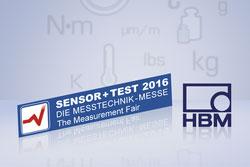 Messtechnik-Komplettlösungen von HBM auf der Sensor+Test 2016