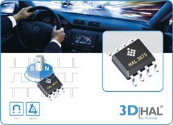 Neuer Sensor von Micronas auf Basis der 3D HAL®-Technologie für eine Direktwinkelerfassung von 0° bis 360°