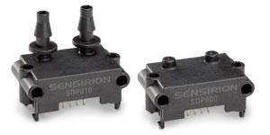 Differenzdrucksensoren der SDP800 Serie von Sensirion mit zusätzlicher I2C-Adresse