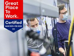 Sensirion wurde auch 2021 als «Great Place to Work®» zertifiziert