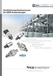 Hochleistungsdrucksensoren für OEM-Anwendungen